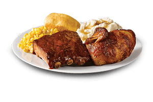 Quarter Chicken with Quarter Rack of BBQ Ribs - Boston Market
