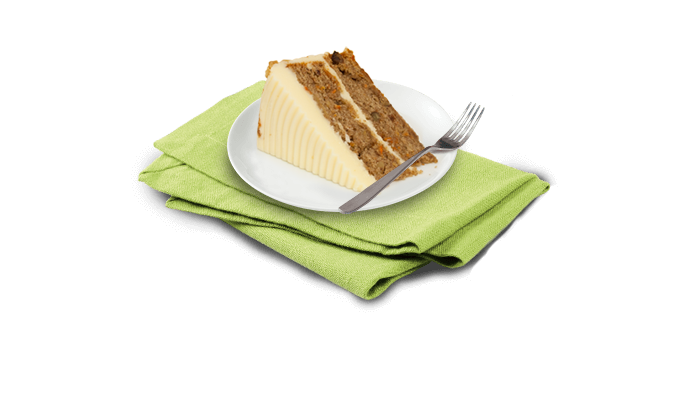 Image of a piece of Carrot Cake on a plate
