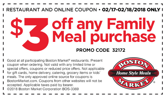 $3 off any Family Meal