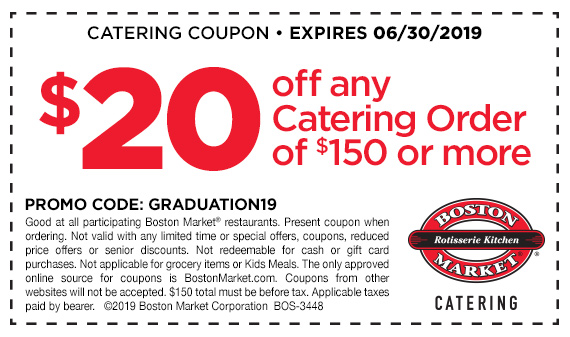 Get $20 off any catering order of $150 or more