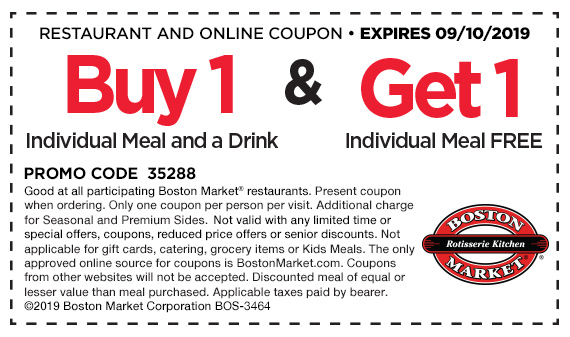 Buy 1 Individual Meal and a drink and get 1 Individual Meal free