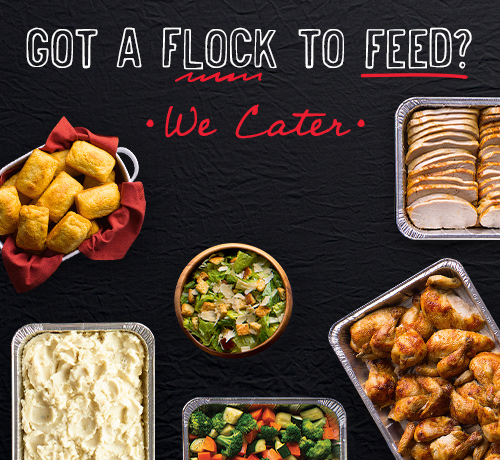 Got a flock to feed? We cater