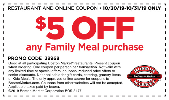 Get $5 off any Family Meal purchase