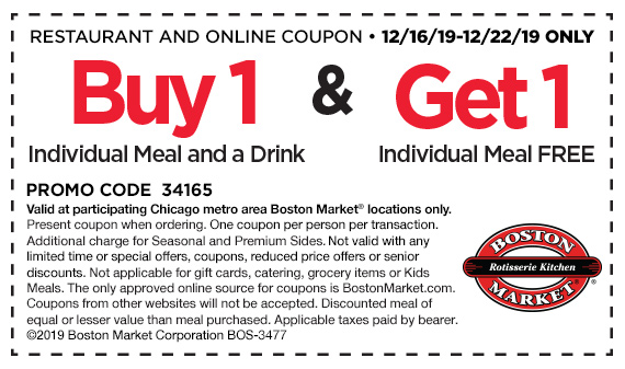 Buy 1 Individual Meal and get 1 Individual Meal and a drink