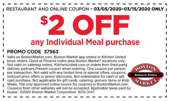 Get $2 off any Individual Meal