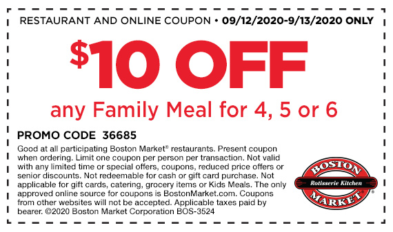 $10 Off Family Meal Offer